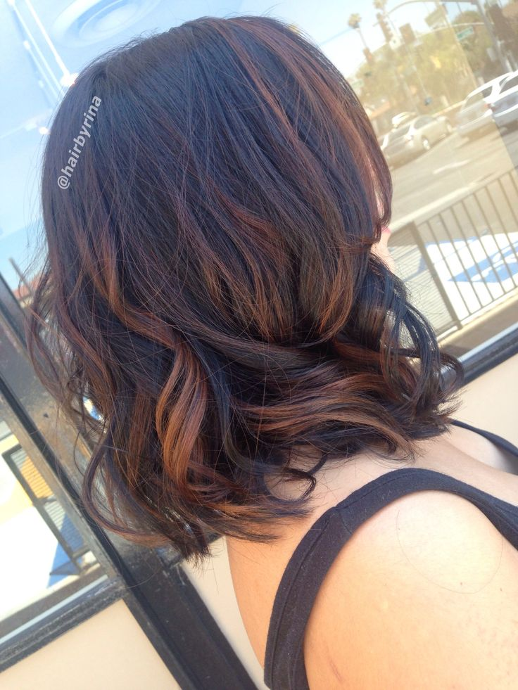 Brunette And Balayaged Darkened Her Base With 1 2 3n 1 2