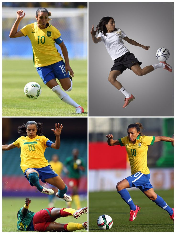 Marta Vieira da Silva (born 19 February 1986), commonly known as Marta, is a Brazilian footballer who plays for the Orlando Pride in the National Women's Soccer League and the Brazil national team as a forward. With 15 goals, she holds the record for most goals scored at FIFA Women's World Cup.