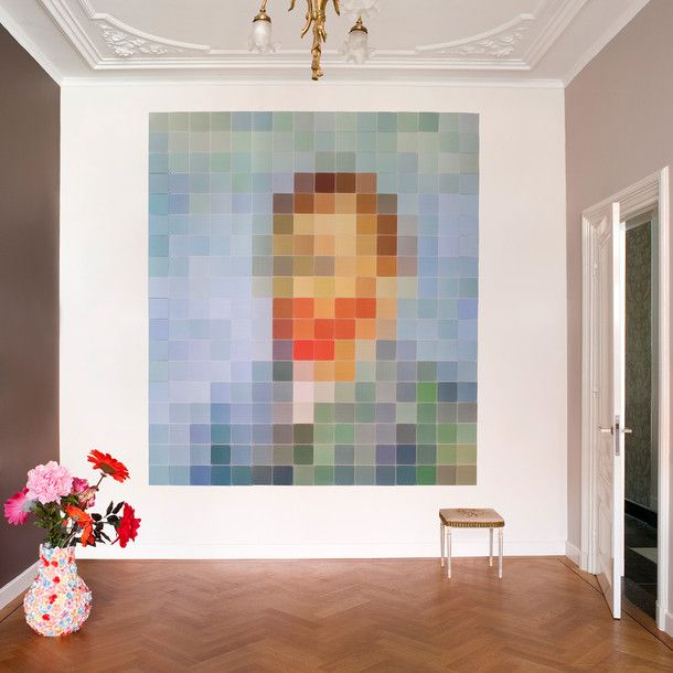 Modular wall squares. You can recreate famous art, or just make something original. I like this a lot.