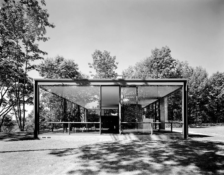 The Glass House, New Canaan, Conn., Philip Johnson, 1949 | Ezra Stoller's Architectural Studies