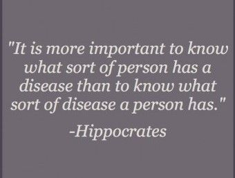 see the person, not the disease...