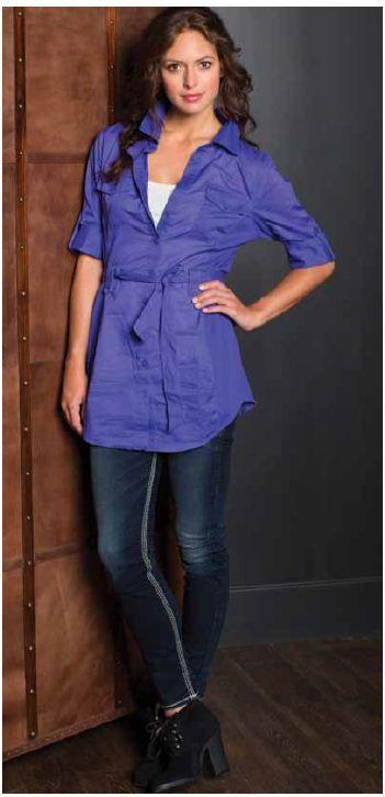 Tatum tunic blouse and @Pamela Petkova Jeans Co. suki super skinnys @Chris Munroe