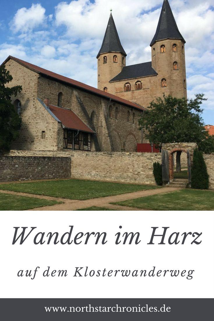 Wandern im Harz auf dem Klosterwanderweg von Thale über Drübeck, Ilsenburg bis nach Goslar entlang der Straße der Romanik