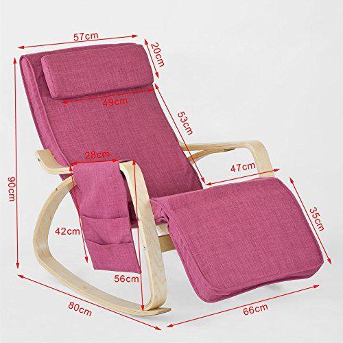 SoBuy Sillón de relax, Mecedora, Sillón de diseño, Butaca de madera, FST18-P,ES - http://vivahogar.net/oferta/sobuy-sillon-de-relax-mecedora-sillon-de-diseno-butaca-de-madera-fst18-pes/ -