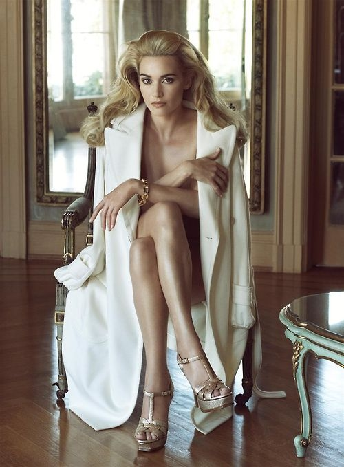 Kate Winslet photographed by Steven Meisel for Vanity Fair.- This photo has so much strength and presence to it!