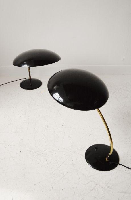 1960s German black Kaiser midcentury desk lamp