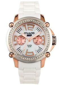 Mulco MW2-28086S-011 Stainless Steel Chronograph Mwatch Collection White Dial and band Watch