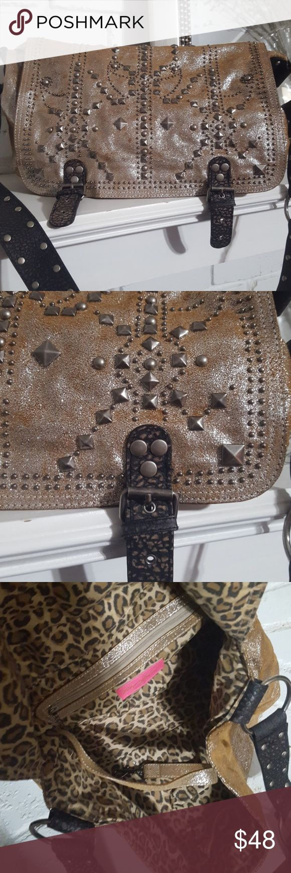 Sparkly bag!! Dust bag included.  Length 13 inches. Width 4.5 inches. Height 8.5 inches. Betsey Johnson Bags