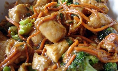Crock Pot Chicken Lo Mein - easy with most ingredients already in