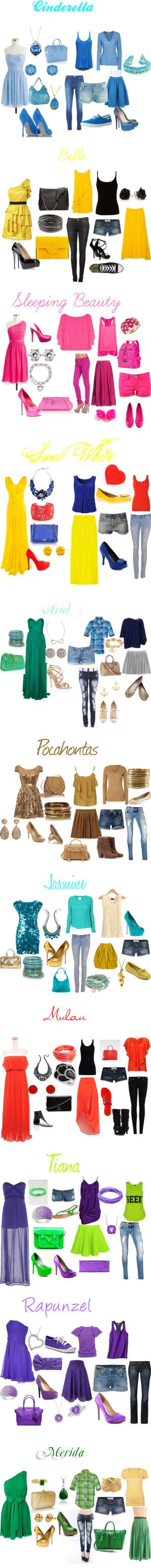 "❤̋◡❤̋                                                                ""Modern Princess Outfits"" on Polyvore"