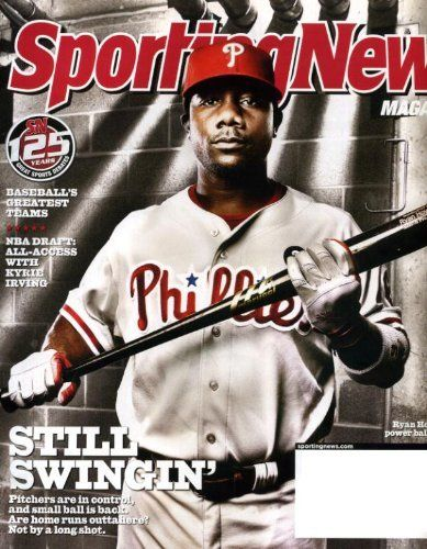Sporting News July 4 2011 Ryan Howard/Philadelpha Phillies Bulls on Cover, NBA Draft: All Access with Kyrie Irving, Baseball's Greatest Teams, Dale Earnhardt Jr by Sporting News Magazine, http://www.amazon.com/dp/B005DM85EI/ref=cm_sw_r_pi_dp_Q1d6rb1EMGJ0J