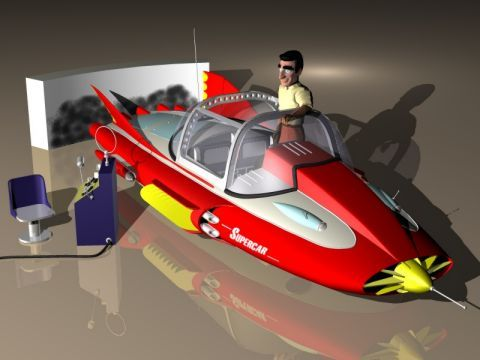 Gerry Anderson's Supercar — from a TV show I loved as a kid, in the early '60s.