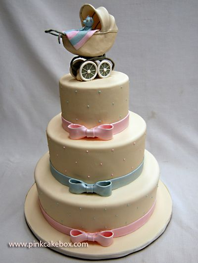 Baby Shower Cake: Showers, Neutral Baby, Babyshower Ideas, Prams Baby, Prams Cakes, Classic Baby Shower, Baby Shower Cakes Ideas, Baby Cakes With Carriage, Neutral Shower Cakes