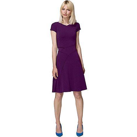 HotSquash Purple smart summer dress in cool fresh fabric | Debenhams