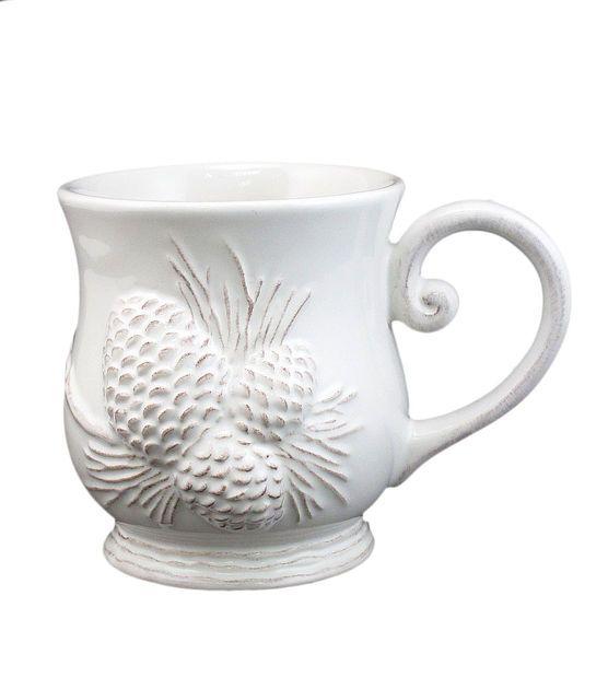Holiday Inspirations White Pinecone Mug, , hi-res