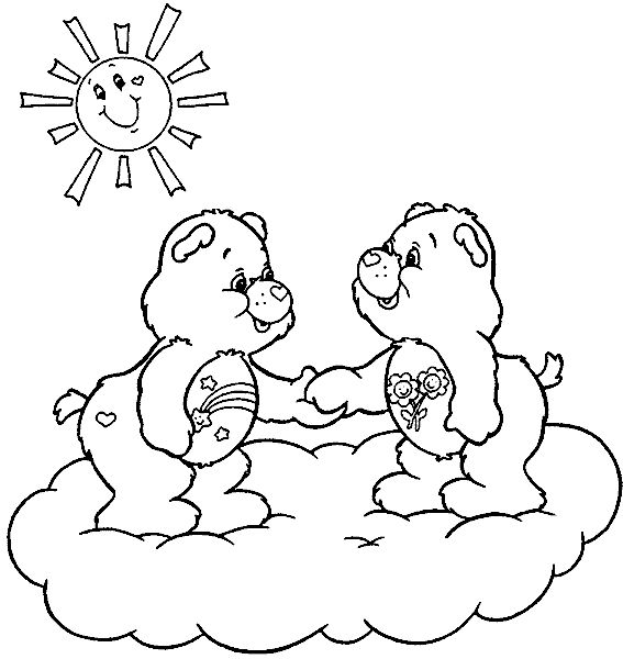 wish bear coloring pages - photo#10