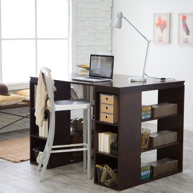 Belham Living Sullivan Counter Height Desk - Espresso | from hayneedle.com