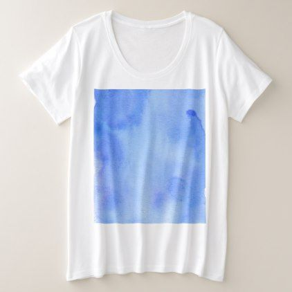 Blue Marble Watercolour Plus Size T-Shirt - marble gifts style stylish nature unique personalize
