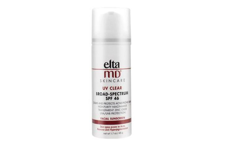 EltaMD UV Clear Broad-Spectrum SPF 46 http://www.prevention.com/health/best-sunscreens-when-youre-over-40/slide/1
