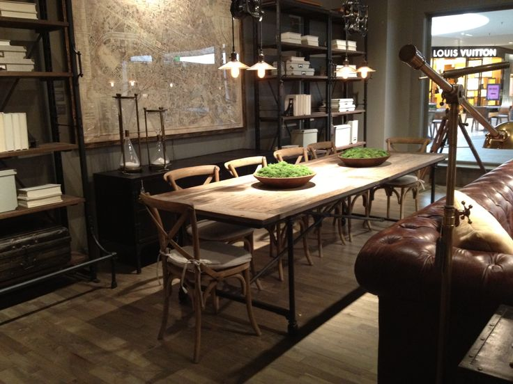 Restoration Hardware Flatiron Table Dining Room