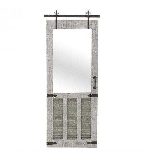 WOODEN MIRROR 'DOOR' IN ANTIQUE WHITE COLOR 52X5_5X129