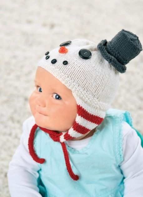 Snowman baby hat by Jane Burns