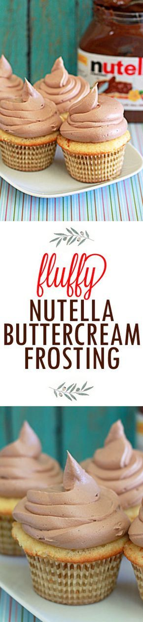 Fluffy Nutella Buttercream Frosting recipe! This fluffy - and super easy - buttercream frosting recipe features everyone's favorite chocolate-hazelnut spread. One batch of this buttercream should be plenty to frost one standard-sized layer cake or generously top a dozen cupcakes.