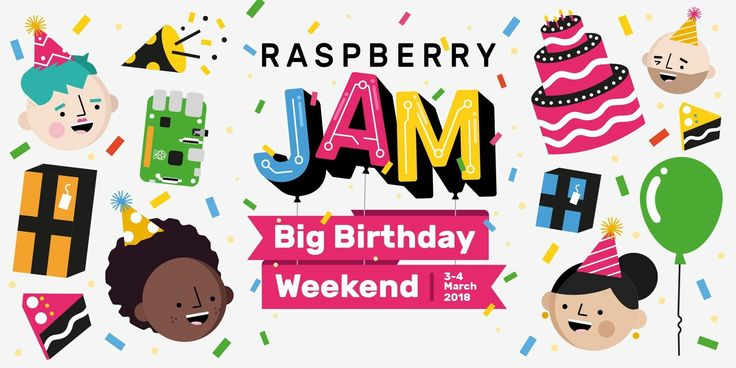 Saturday, March 3, 2018 10:00 AM to 4:00 PM  South County Library 6303 Merriman Road · Roanoke  It's the Raspberry Pi Big Birthday Weekend!  Join in the digital making community for the world-wide-mega-Jam celebration of the Raspberry Pi's 6th birthday!