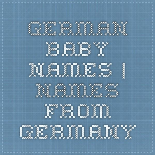 German Baby Names | Names from Germany