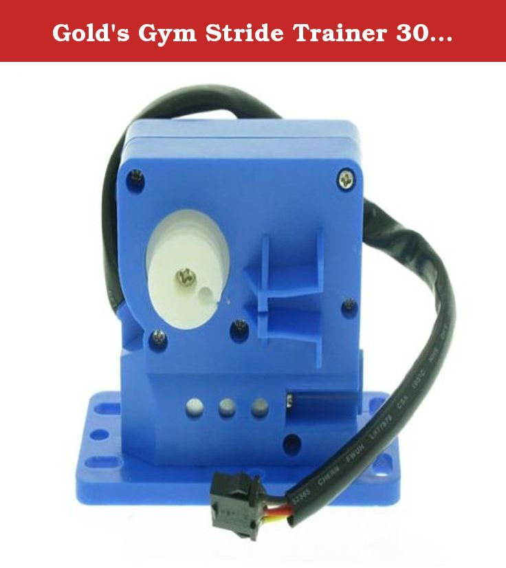 Gold's Gym Stride Trainer 300 Elliptical Resistance GGEL629070. This is the Replacement Resistance Control Motor for the Gold's Gym Stride Trainer 300 Elliptical For Model Number GGEL629070.