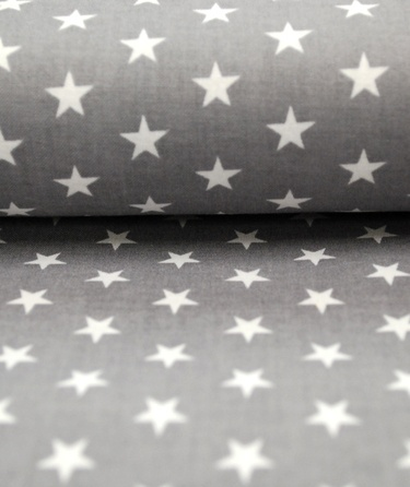 grey fabric with stars