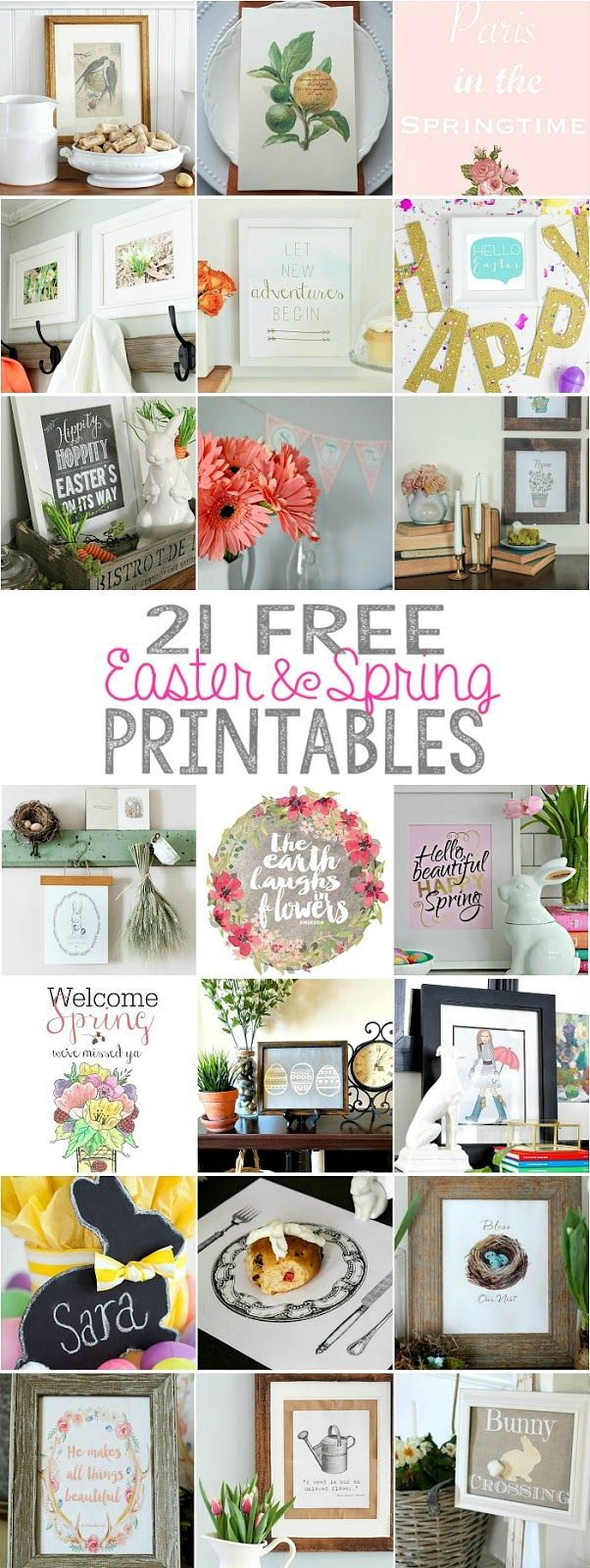 "Thoughts from Alice: Spring Easter Bunny Free Printable - ""Some Bunny Loves You"""
