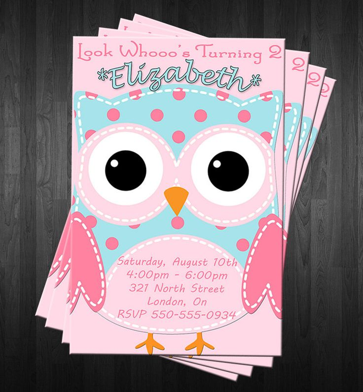 The 25 best Owl birthday invitations ideas on Pinterest Owl
