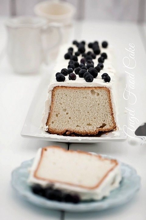 Angel Food Cake - anielskie ciasto na białkach