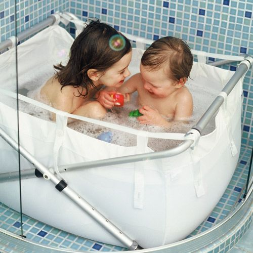 baignoire enfant pliante pour la douche blanc bath. Black Bedroom Furniture Sets. Home Design Ideas