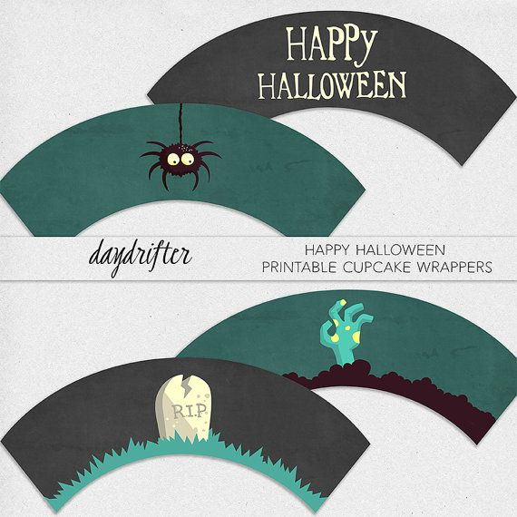 INSTANT DOWNLOAD  Printable Happy Halloween by DaydrifterDigital, $4.00