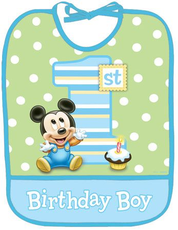 Baby Mickey Mouse 1st Birthday | Mickey Mouse 1st Birthday Baby Bib - Mickey Mouse 1st Birthday Kids ...