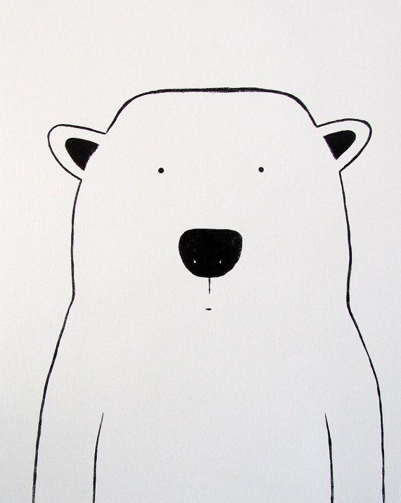 Modern Kids and Nursery Polar Bear Art von adrianeduckworth auf Etsy