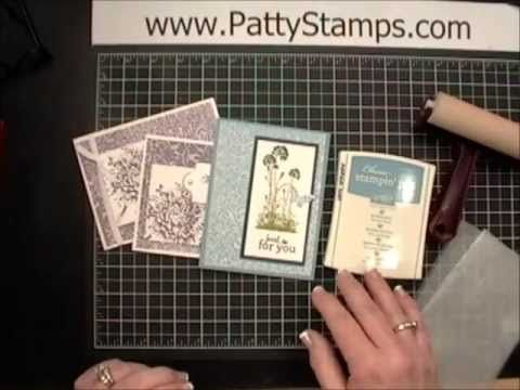 VIDEO tutorial: How to create the Waxed Paper Resist background for your cards