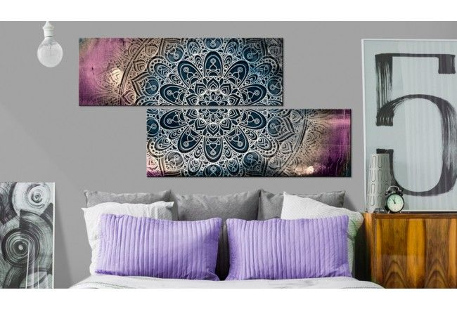 I mandalas återspeglas själen, harmonin och den inre friden. Tilsammans med ljusa färger representer den orientaliska konsten sina vackraste sidor! #tavlor #canvastavlor #mandala #orientalisk #zen #väggdekor #bimago