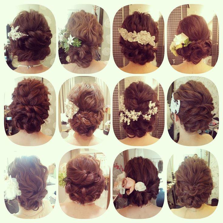 「ネープアレンジヘア♪ #ヘアアレンジ#ヘアセット#ヘア#ルーズ#ウェディング#ブライダル#ブライダルヘア #ヘアスタイル#ヘアメイク#花嫁準備#hairarrange#weddinghair #wedding#weddingdress #bridal#hair#hairdo…」