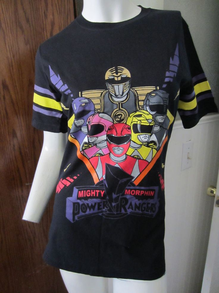 Hot Topic: Mighty Morphin Power Rangers Hockey T-Shirt #PowerRangers #GraphicTee #Casual