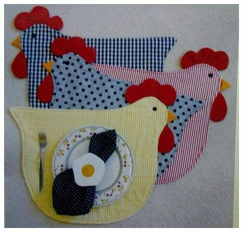 Chicken placemats - cute!