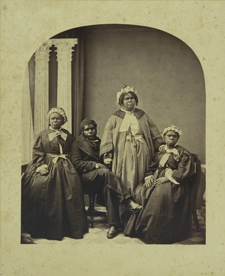 Aborigines, Tasmania. c 1866 albumen silver photograph by Henry Frith