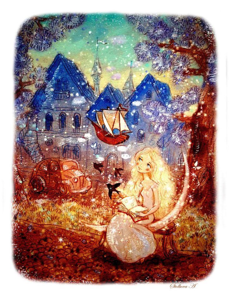 Сообщество иллюстраторов / Иллюстрации / Столбова Анастасия/Stolbova Anastasia / Душа книги