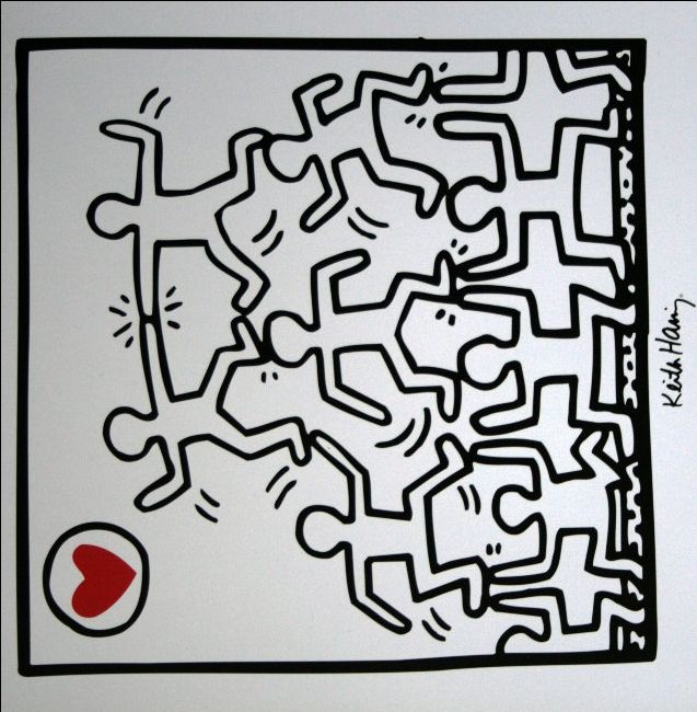 1000 images about peinture keith haring on pinterest - Keith haring shower curtain ...