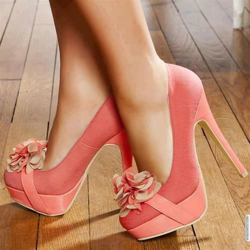 Pretty colorPink Flower, Fashion, Highheels, Pink Heels, Strong Women, Woman Shoes, Pump, High Heels, Pink Shoes