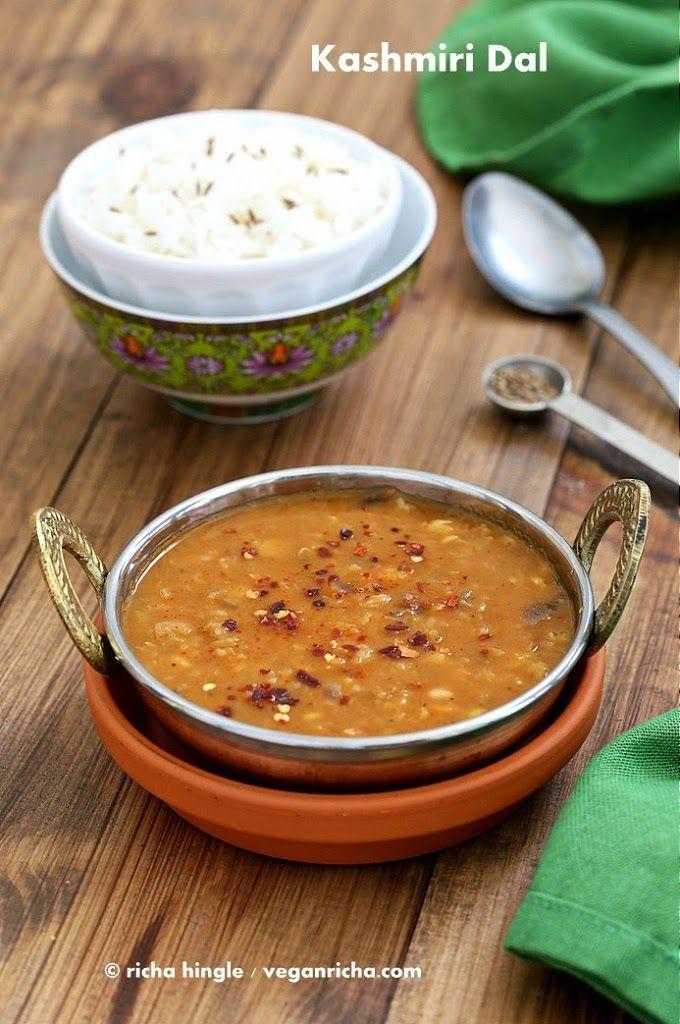 Kashmiri Dal - Split Pea & Yellow Lentil Soup with Ginger and Spices. Vegan Glutenfree Recipe - Vegan Richa