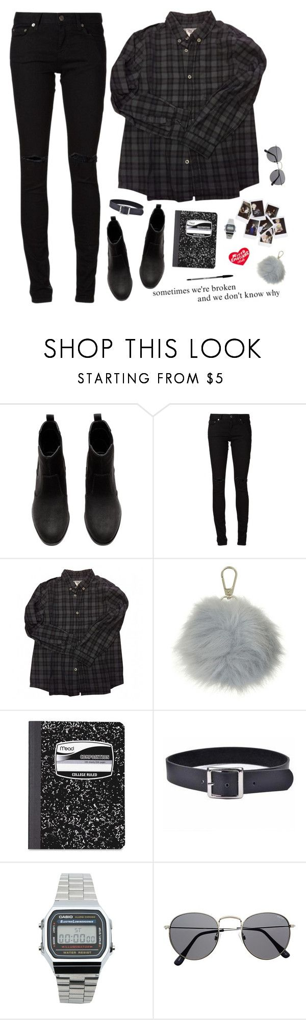 """Sometimes We're Broken, And We Don't Know Why"" by shoftie ❤ liked on Polyvore featuring Nasty Gal, H&M, Yves Saint Laurent, Bonpoint, Whistles, Mead, Trend Cool, Casio and Tuesday Bassen"
