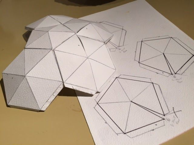 Paper geodesic dome google search pinterest craft for Geodesic dome template
